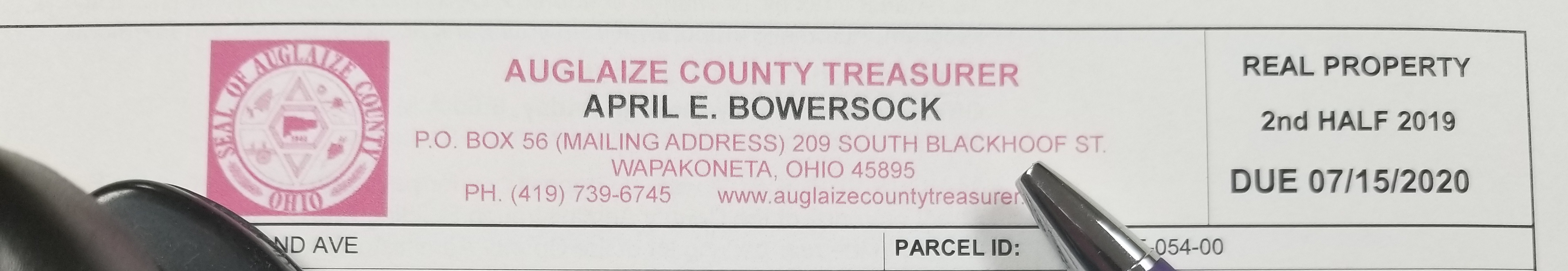 Auglaize County Treasurer